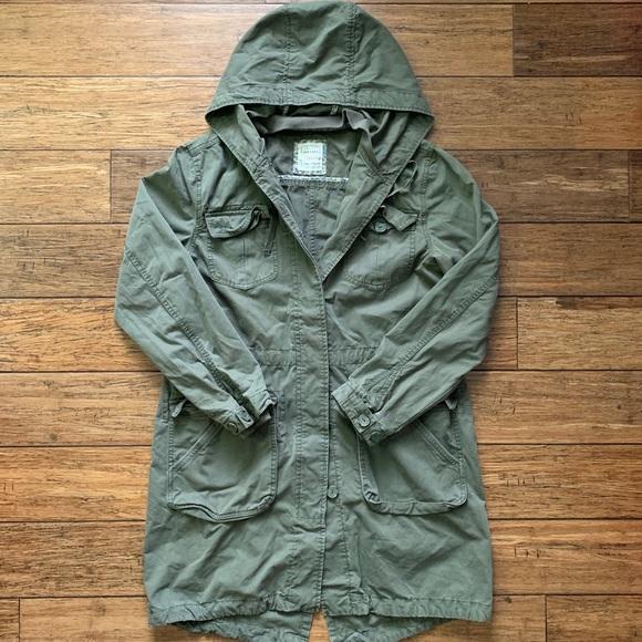 Old Navy Jackets & Blazers - Olive Drab Multi Pocket Button Down Parka